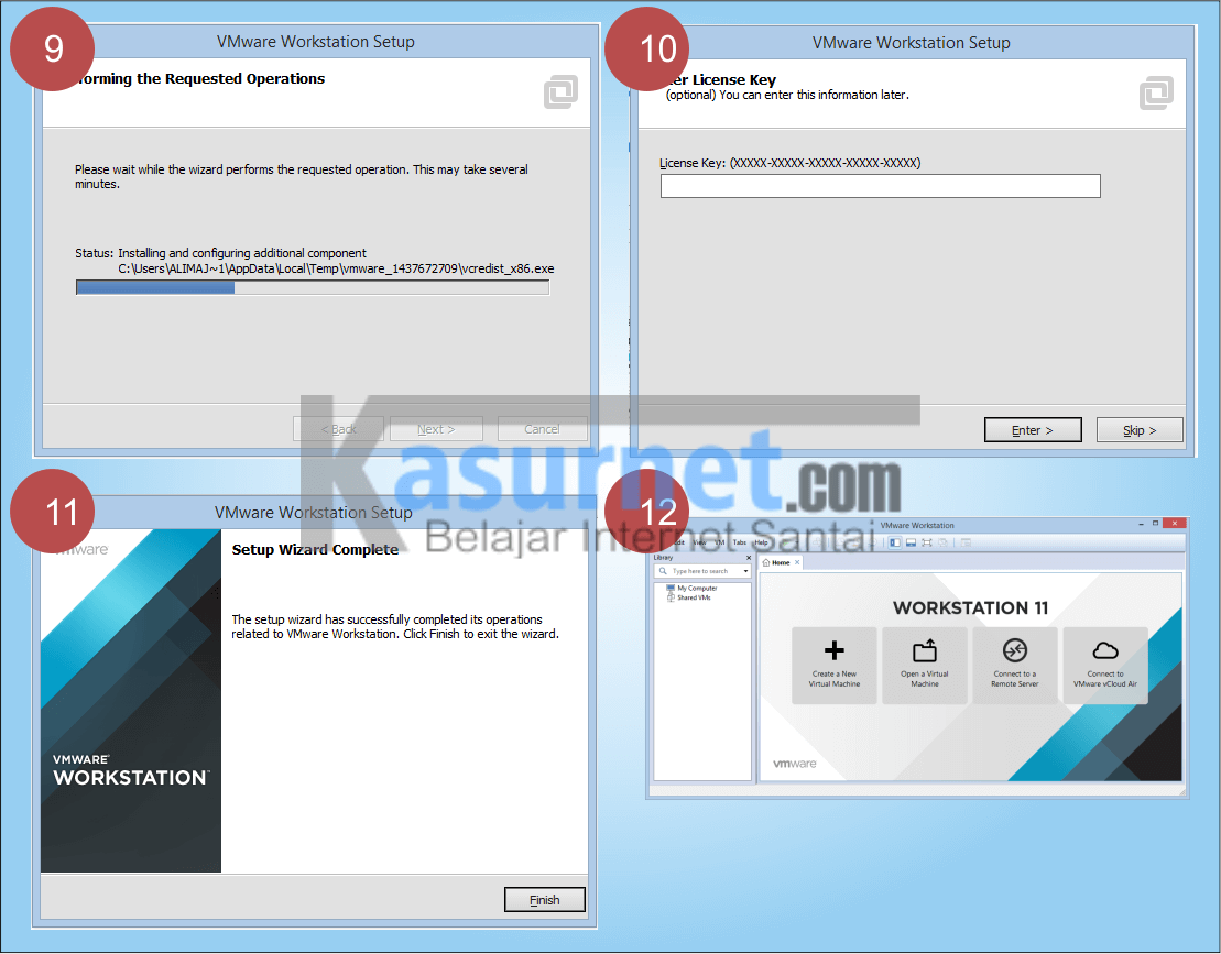 Cara Install vmware Workstation 11
