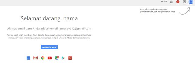Akun gmail sudah dibuat