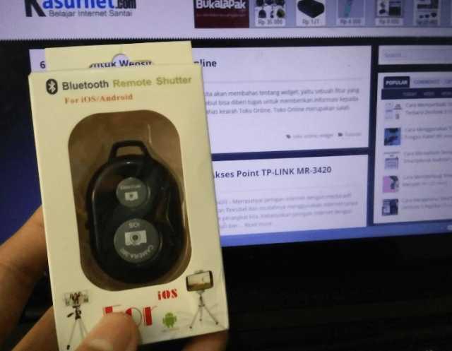 Cara Menggunakan Tomsis Bluetooth Remote Shutter