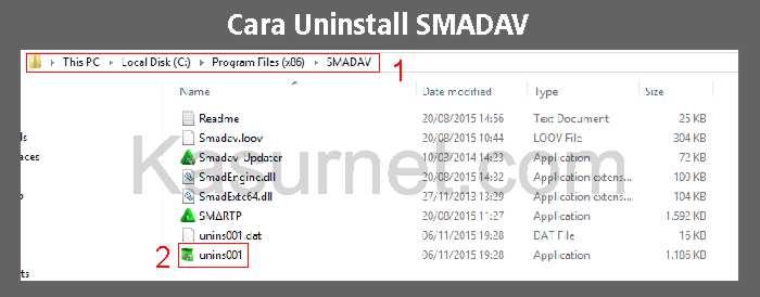 Cara menghapus uninstall SMADAV dengan bersih