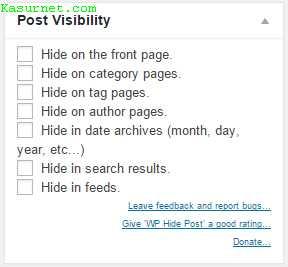Cara Menyembunyikan Postingan di Halaman Tertentu WordPress