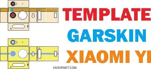 Template Garskin Untuk Xiaomi Yi