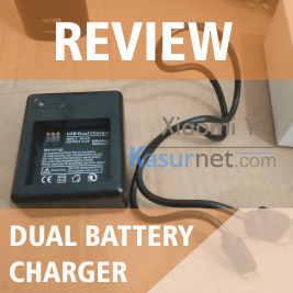 Review Dual Battery Charger untuk Xiaomi Yi