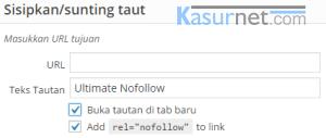 Cara Menambahkan Pilihan Nofollow Link WordPress