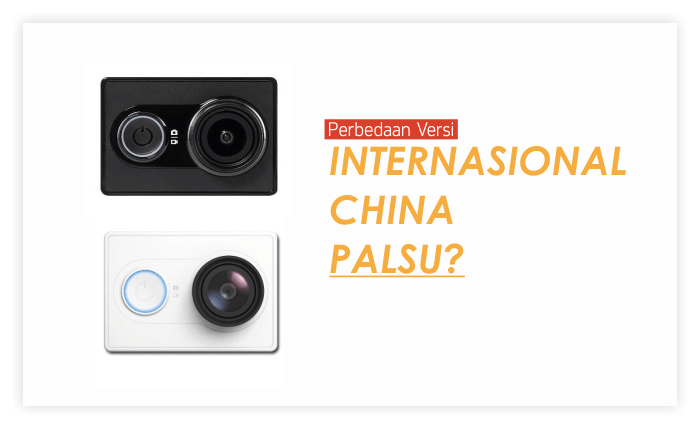 Xiaomi Yi China dan Internasional