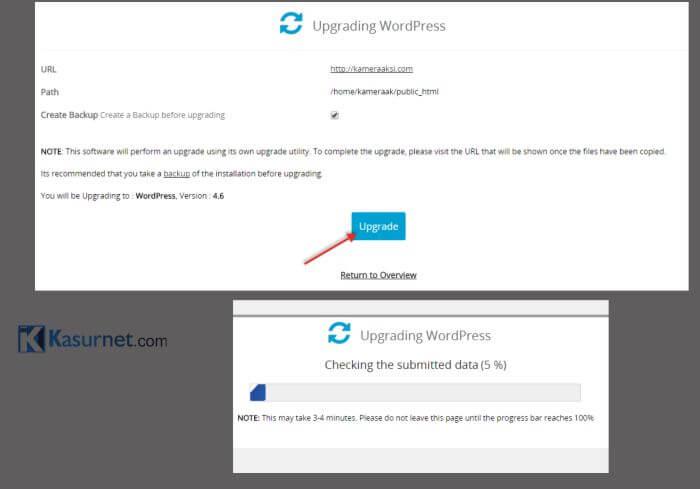 Cara Update WordPress Terbaru Lewat Cpanel