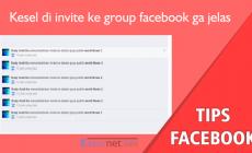 Permalink ke Kesel di Invite teman facebook ke Group gajelas, Berikut penjelasan dan solusinya