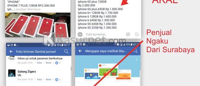 Hati-hati Ada Penipuan Jual Smartphone Murah Melalui Fanspage Facebook Ads