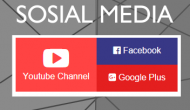 Permalink ke Widget Sosial Media Youtube Facebook GPlus Simpel Flat