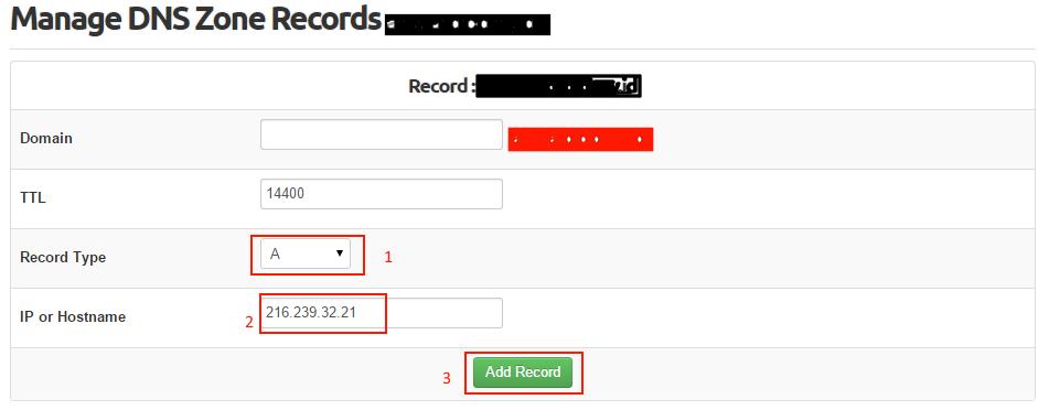 Tambahkan a record