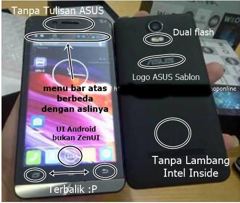 Cara membedakan smartphone asus zenfone 5 replika