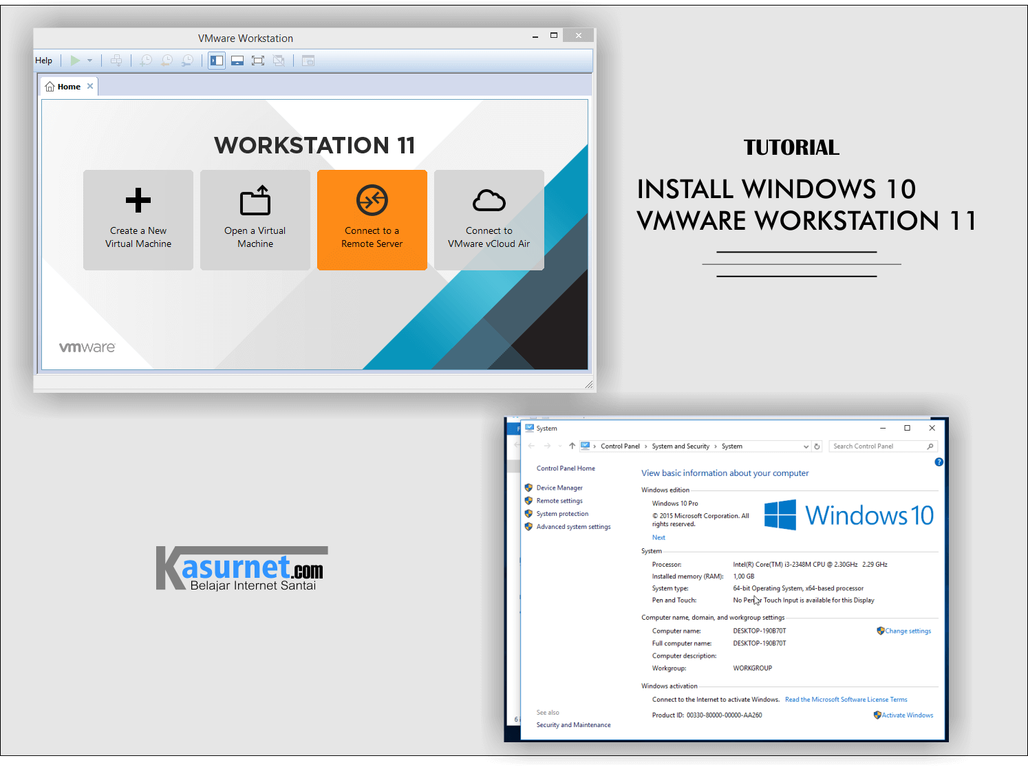 tutorial install windows 10 vmware
