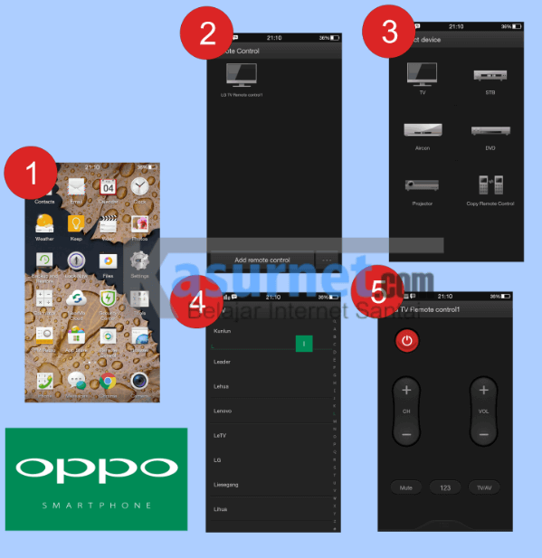 Tutorial Mengganti Channel Tv dengan Oppo Mirror 3