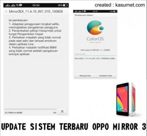 Update Sistem Terbaru Oppo Mirror 3