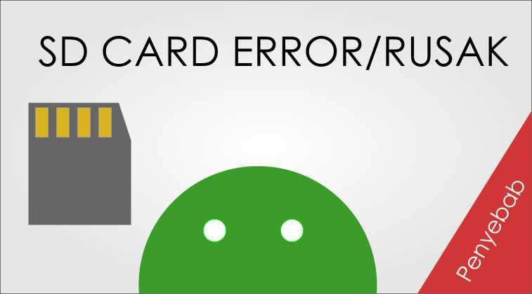 Penyebab Kartu Memori Card Error dan Rusak