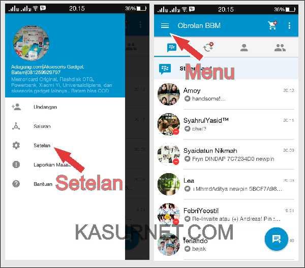 Cara Menghapus History Chat BBM di Android