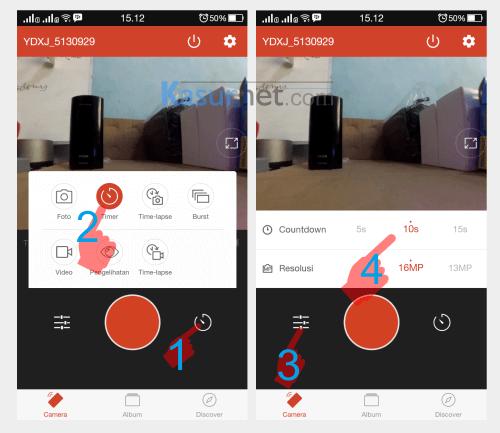 Cara Mengatur Timer Xiaomi Yi