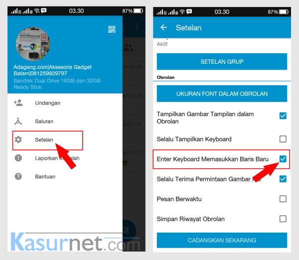 Cara Menambahkan Tombol Enter di BBM Android
