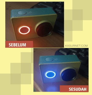 LED Nyala Merah Padahal Battery Xiaomi Yi Penuh