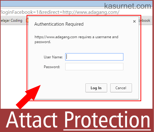 Cara Menghilangkan Pop Up Authentication Required WordPress