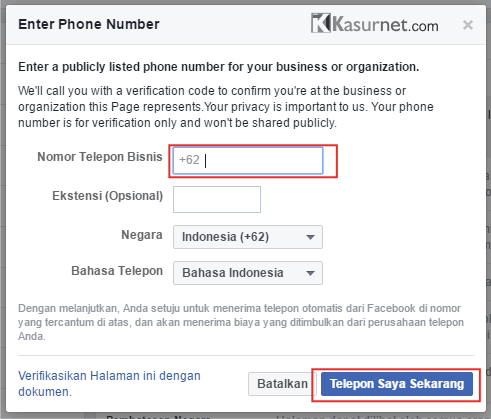 Cara Verifikasi Fanspage Facebook