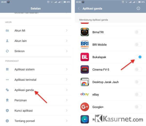 Cara Clone Apps di MIUI 8 Android