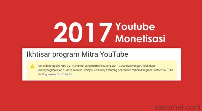 Channel Youtube Harus Memiliki Minimal 10.000 Viewer