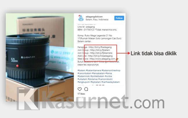 Cara Menambahkan Link di Bio Instagram