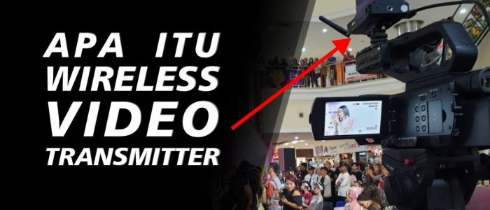Kamera Pake Wireless Video Transmitter Pengganti Kabel HDMI