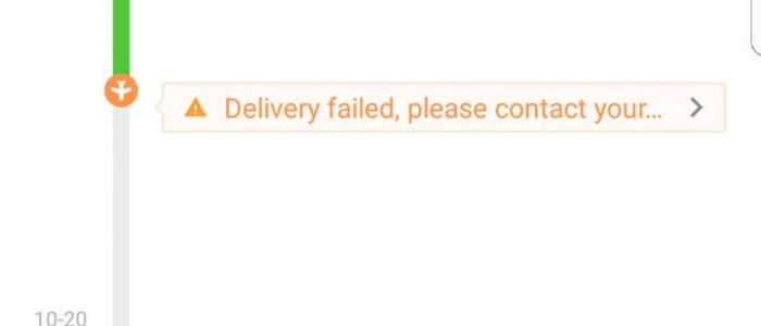 Pengalaman Delivery Failed, please contact your local post office or the seller Order Aliexpress