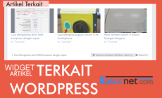 Permalink ke Cara Pasang Widget Artikel Terkait WordPress