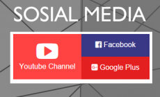 Permalink ke Widget Sosial Media Youtube Facebook GPlus Simpel Flat
